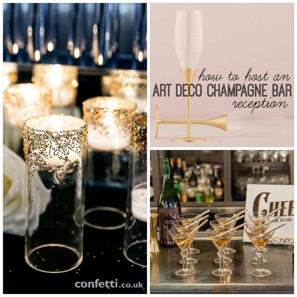 Host an Art Deco Champagne Bar Reception from www.confetti.co.uk