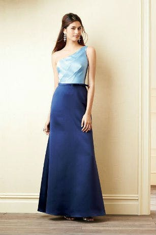 Two tone blue bridesmaid dress by Alfred Angelo