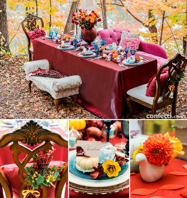 Autumn Wedding Tablescape Decoration Ideas | Confetti.co.uk