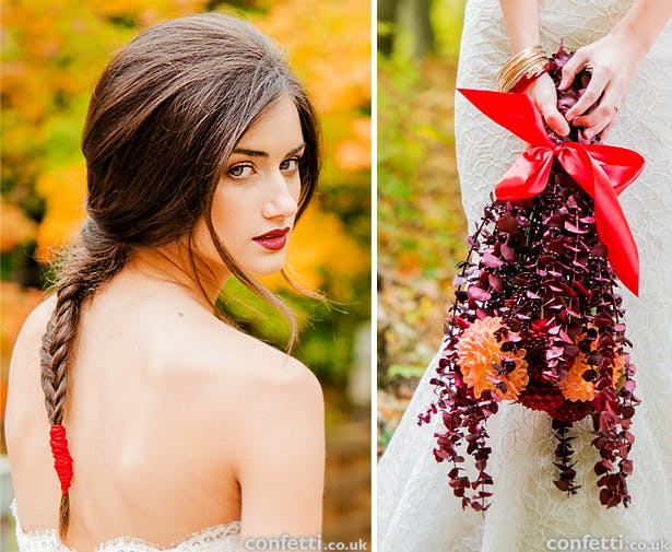 Autumn bride hair and make up ideas and bridal bouquet inspiration | Confetti.co.uk