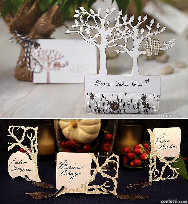 Woodland wedding stationery for autumn and Halloween | Confetti.co.uk