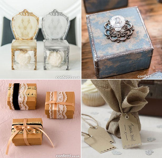 Collection of vintage wedding favours | Confetti.co.uk