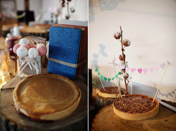 Styling Autumn Wedding| Real Wedding Autumn Wedding Food Ideas |Image courtesy of Julie Kim | Pies and Tarts Bar for your Autumn Wedding |Confetti.co.uk