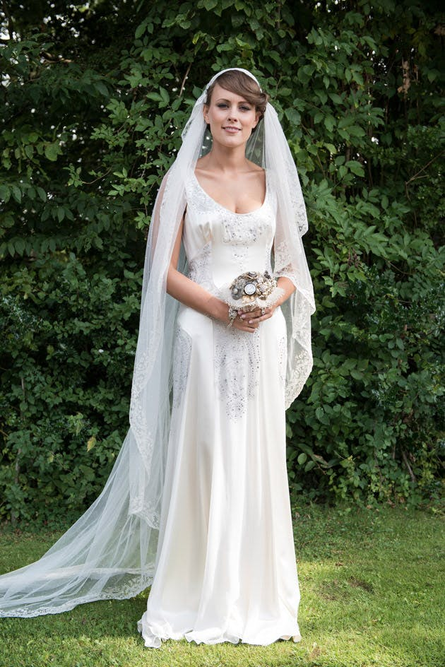 Real Bride in Jenny Packham Wedding Dress