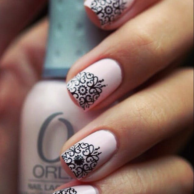 Accentuate the opulent Gatsby/Art Deco wedding theme with these bridal nails | Confetti.co.uk