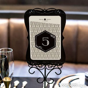 Gothic black table decor