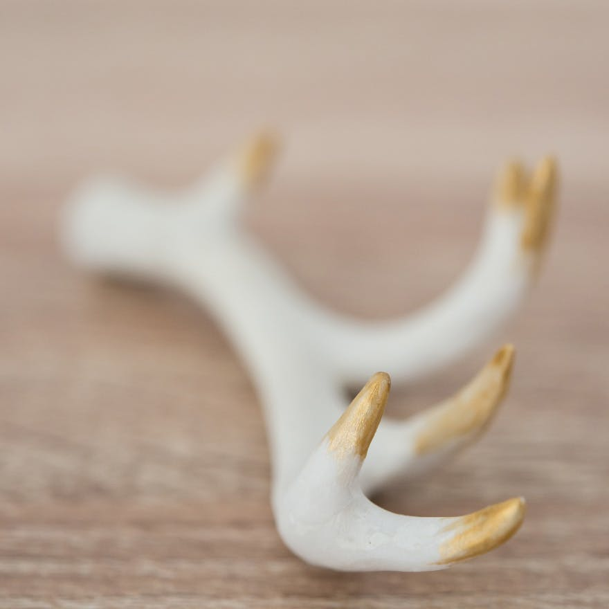 White and Gold Antlers - Antler decoration with golden ombre accents | Confetti.co.uk