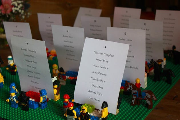 Amazing DIY Ideas From Our Real Weddings | Lego place card holders | Fun and unique DIY place card holders | Confetti.co.uk