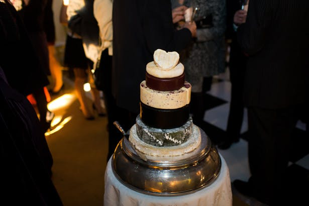Cheese wedding cake| Abigail and Chris's Real Christmas Wedding | Confetti.co.uk