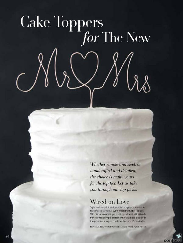 Mr and Mrs Wire Cake Topper from Confetti.co.uk