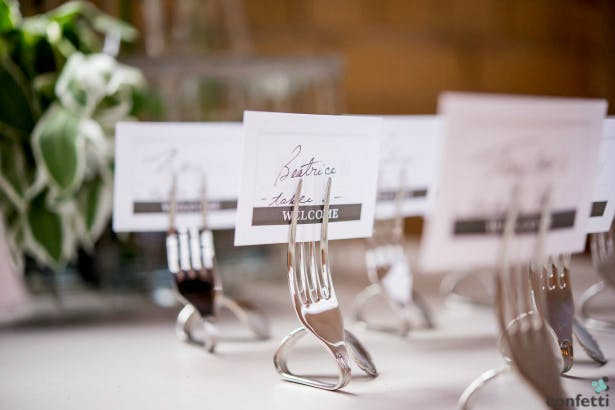 Twisted Fork Place Card Holders from Confetti.co.uk