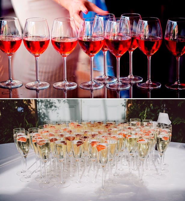 Wedding wine and champagne glasses | Confetti.co.uk