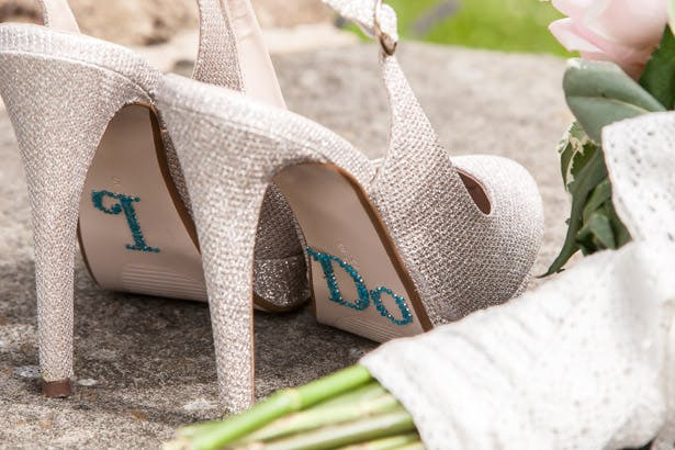 Amazing DIY Ideas From Our Real Weddings | I Do Rhinestones for brides shoes | Confetti.co.uk