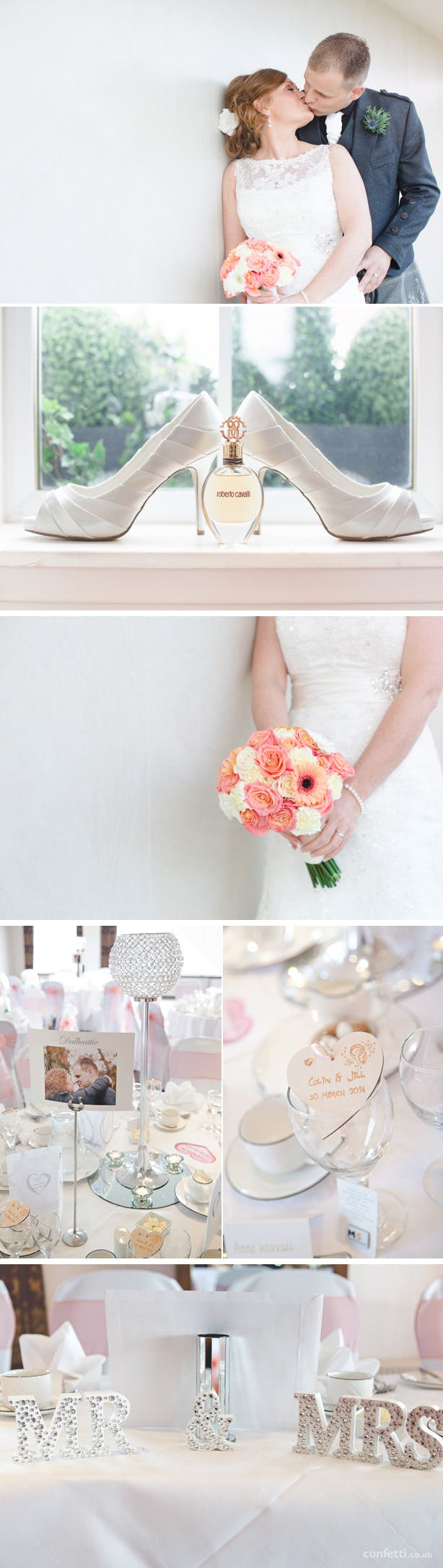 Jill And Colin's Ivory And Coral Real Wedding | Confetti.co.uk