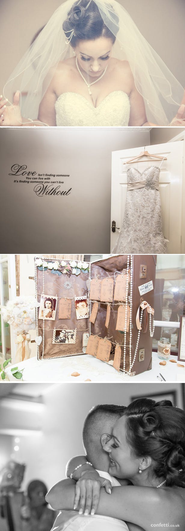 Becki and Rob's Vintage Inspired Real Wedding | Confetti.co.uk