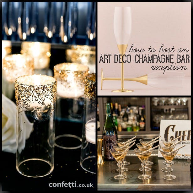 Art Deco champagne bar