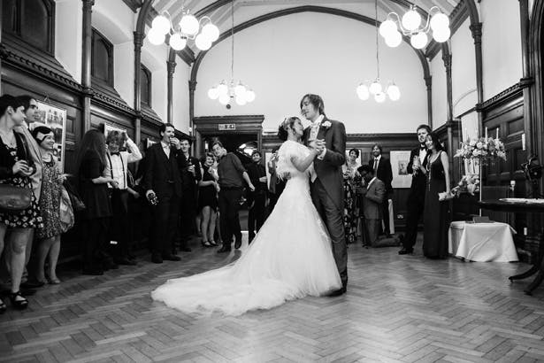 The first dance | Shasha and James real wedding | 1920's Great Gatsby Wedding Confetti.co.uk