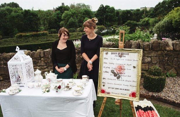Steph And Gary's Real Garden Wedding