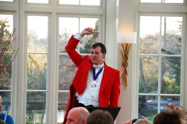 Toastmaster speeches The Man in the Red Coat