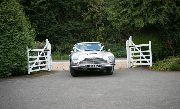 Vintage wedding car | Lizzie and Greg's Real Wedding | Confetti.co.uk