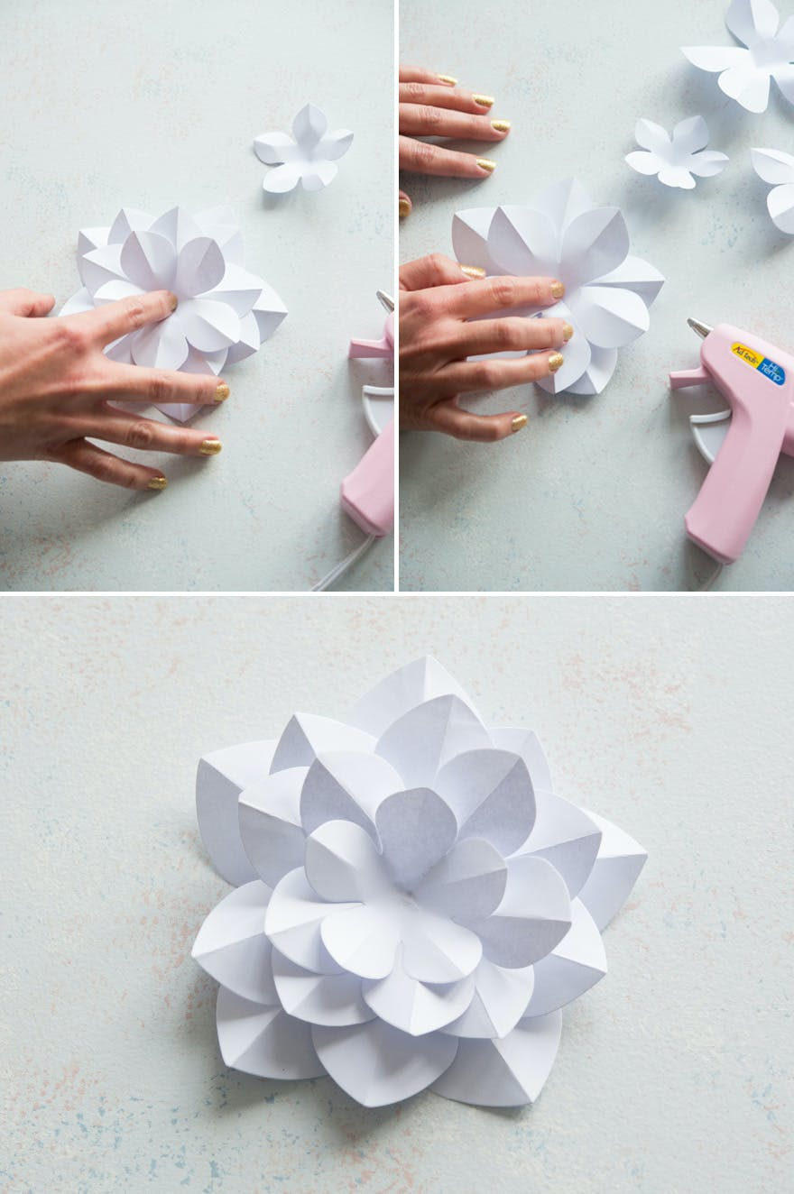 How To Make Paper Flowers Diy Paper Flowers Confetti