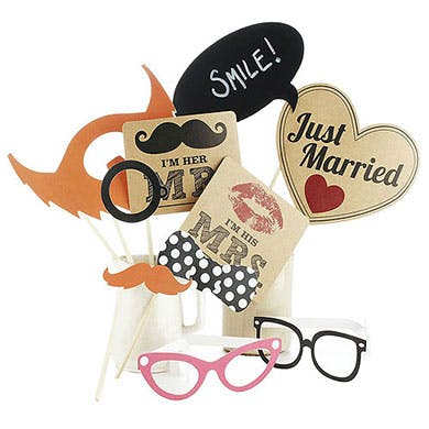 Wedding Photo Booth Props from Confetti.co.uk