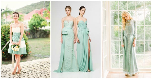 Green Bridesmaid Dress Inspiration from Confetti.co.uk