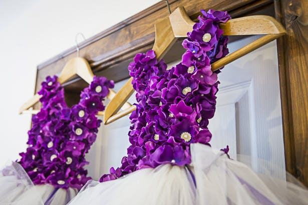 Precious Jeralds Purple And Gold Themed Wedding Confetti