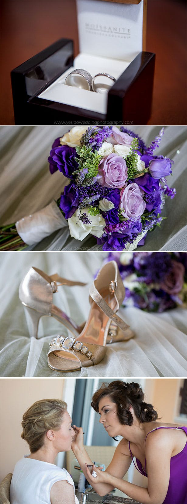 Bridal accessories | Marina and Gary's lavender real wedding | Yes I do! Algarve Wedding Photography | Confetti.fo.uk