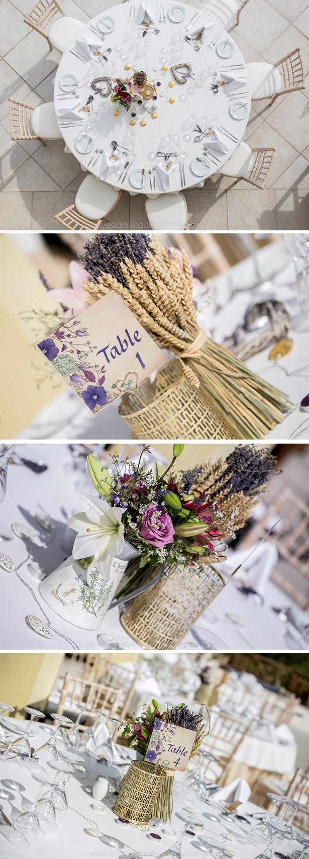 Shabby chic and lavender wedding themed | Marina and Gary's lavender real wedding | Yes I do! Algarve Wedding Photography | Confetti.fo.uk