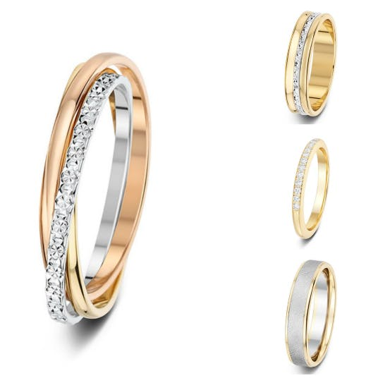 Two tone wedding bands from Aurus London | Confetti.co.uk