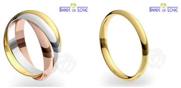 Wedding Bands from Bands of Love on Confetti.co.uk