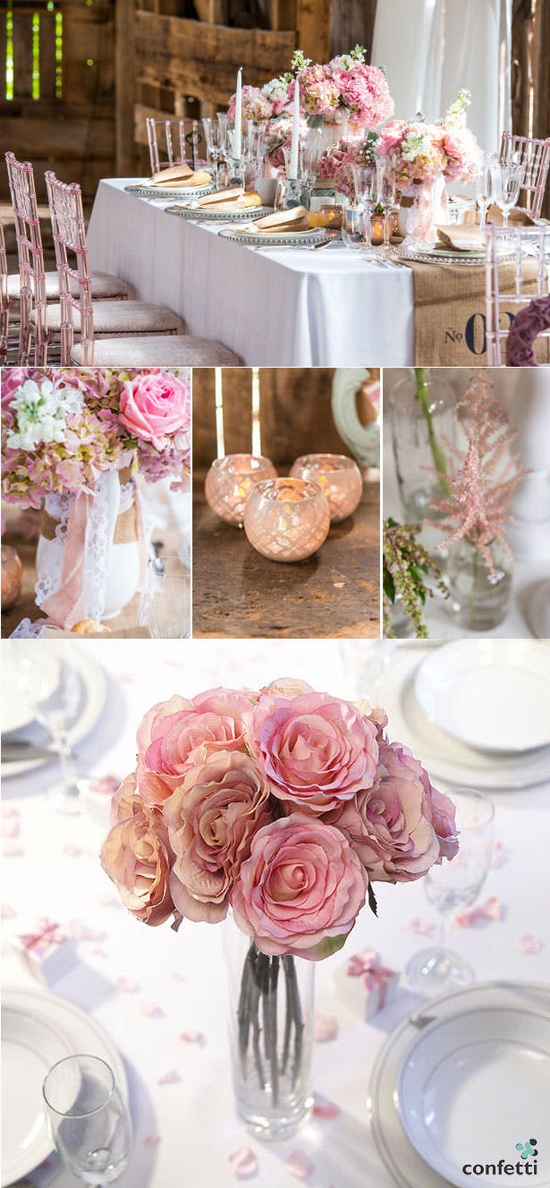 Blush pink wedding decor | Confetti.co.uk