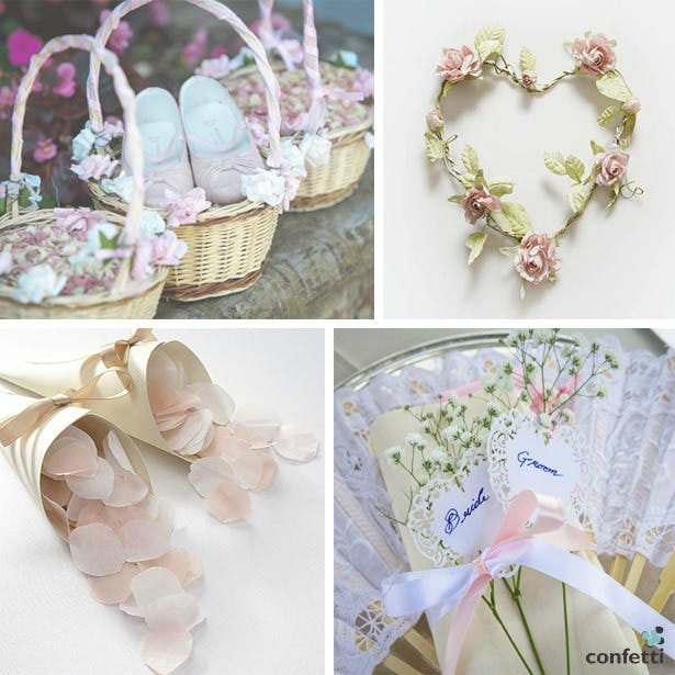 Delicate Blush Tones & Pretty Petals | Confetti.co.uk