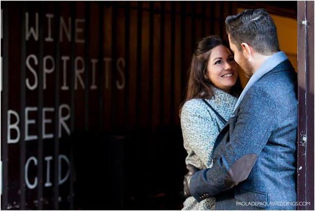 Kim and Dan's Real Engagement   Engagement shoot idea in London   # London #Urban #Engaged #Engagement #Idea   Confetti.co.uk