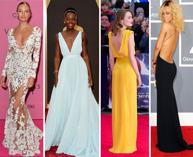 Plunging necklines and low backs on the red carpet | Confetti.co.uk