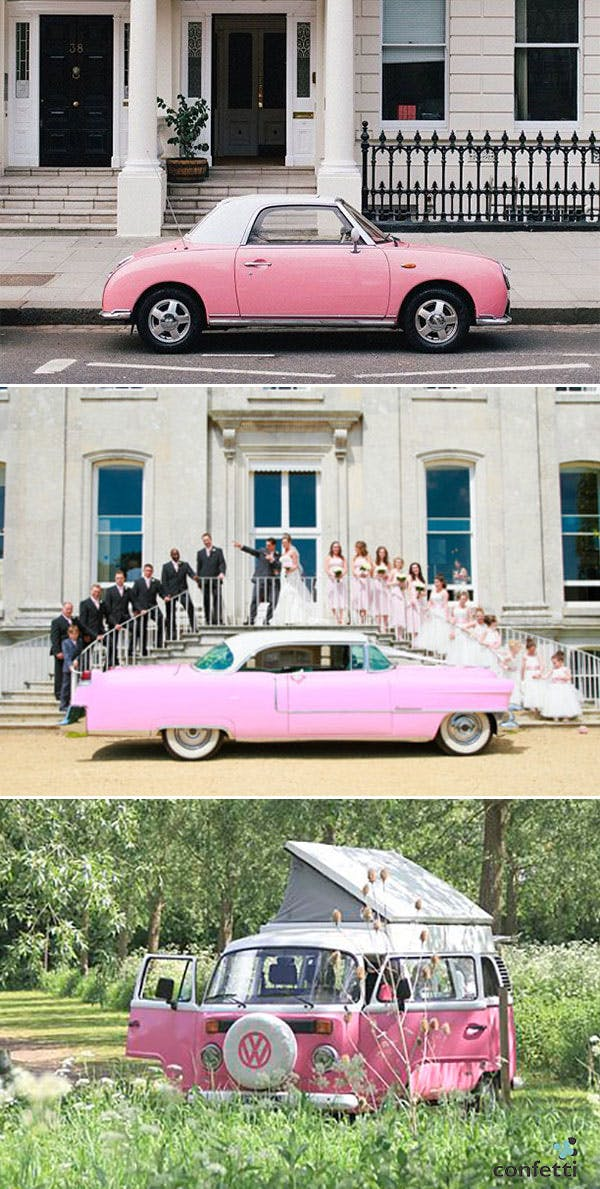 Blush pink weddig transport ideas | Confetti.co.uk