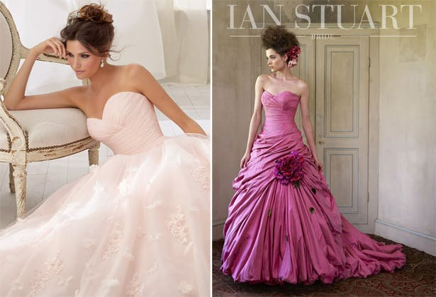 Full Pink Wedding Dresses Confetti Co Uk