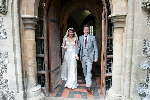 Contemporary wedding suit by King and Allen at Lucy and Adam's Real Wedding   Confetti.co.uk