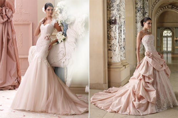 Pink Wedding Dresses By David Tutera Confetti Co Uk