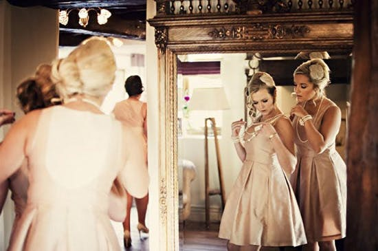 Anna & Gavin's Vintage Style Real Wedding At Linthwaite House Bridesmaids | Confetti.co.uk