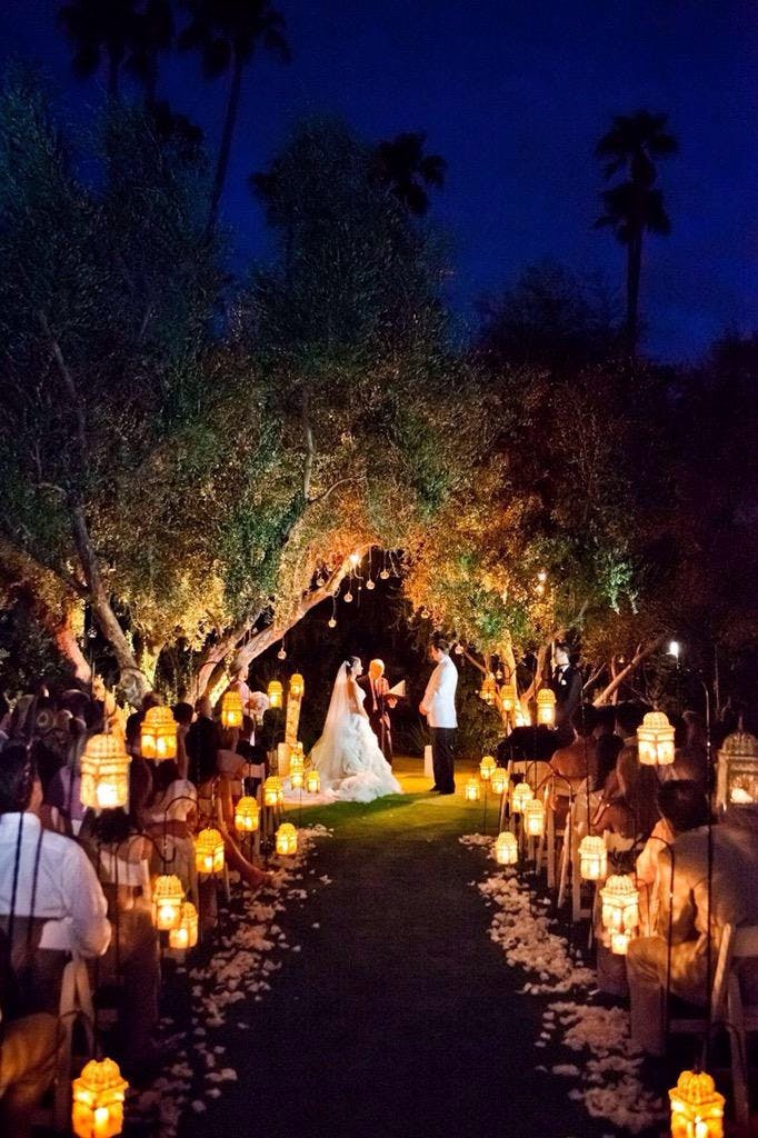 The romance and wonder of a wedding ceremony at nightfall | Confetti.co.uk
