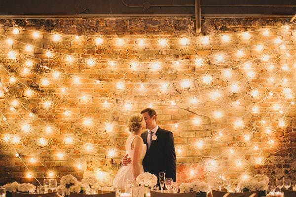 Fairy lights at a wedding reception | Confetti.co.uk
