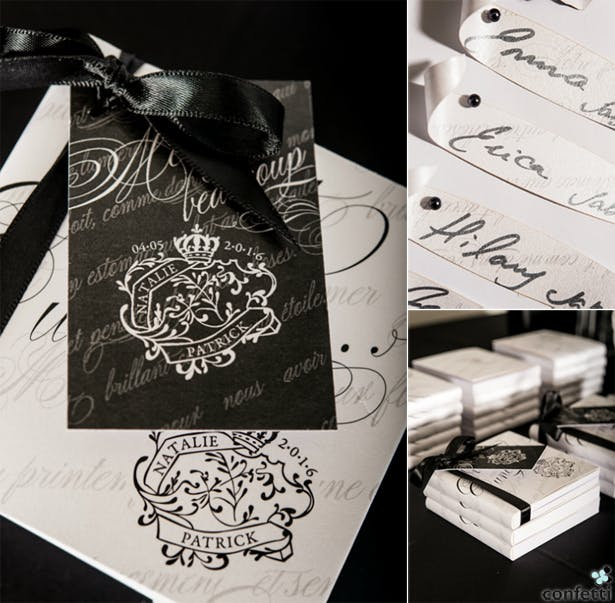 Black and white monochrome wedding invitations | Confetti.co.uk