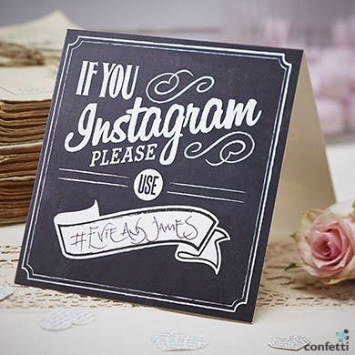 Set a wedding hashtag to see your big day through your guest's eyes   Confetti.co.uk