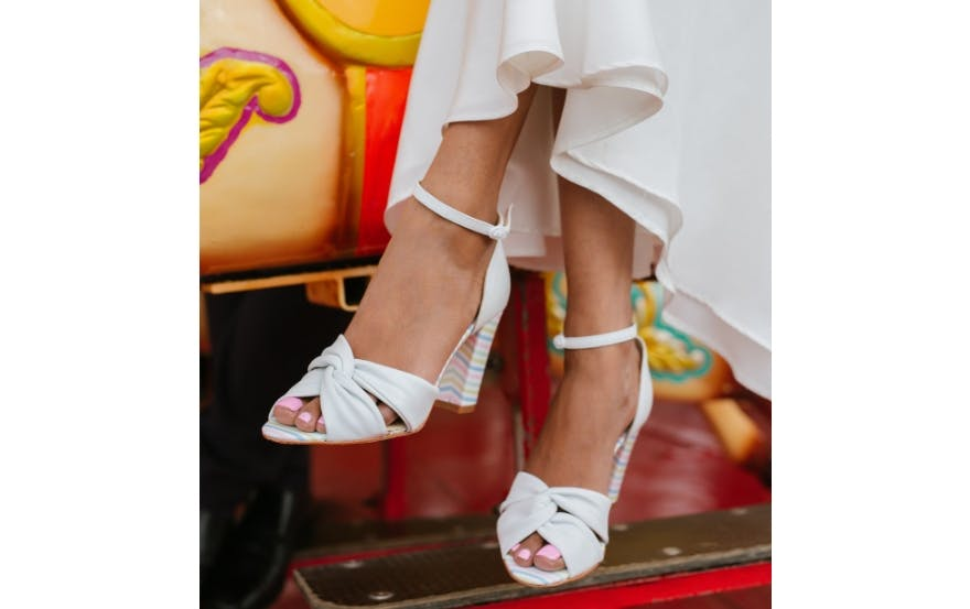 Wedding shoes with heel detail