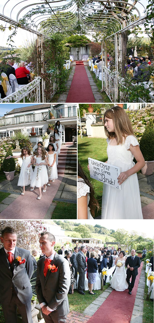 Out door wedding ceremony | Sophie & Chris's real wedding | Confetti.co.uk