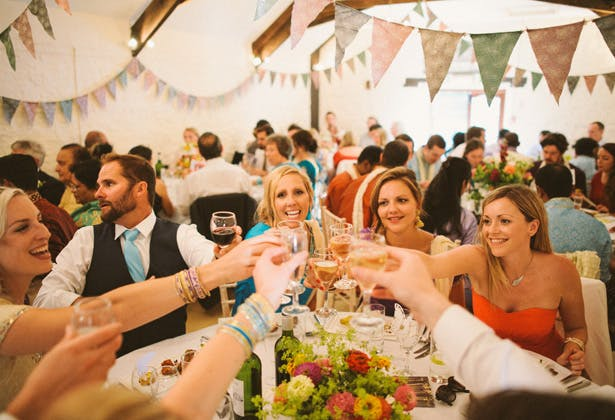 Bridesmaids Toasting with the Bride | Confetti.co.uk