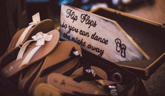 Flip Flops For Your Wedding Guests | Confetti.co.uk