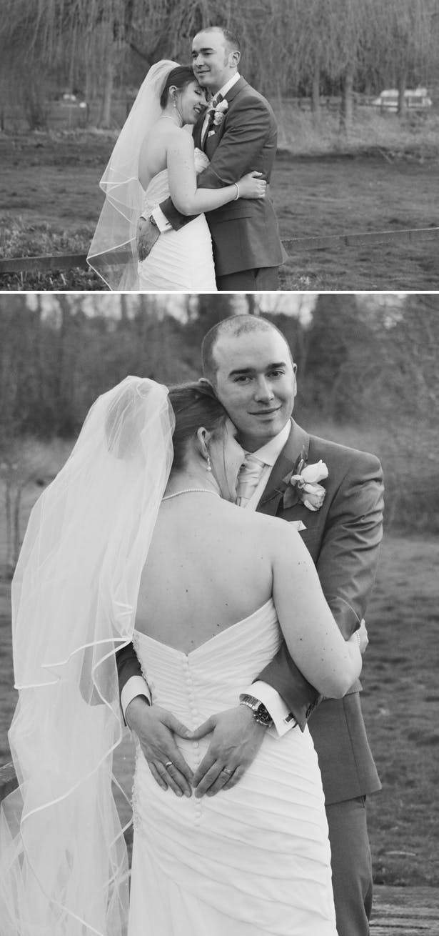Black and white photos of the bride and groom  | Confetti.co.uk